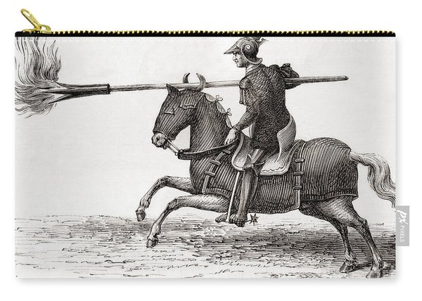 A Medieval Knight Carrying A Fire Lance Carry-all Pouch