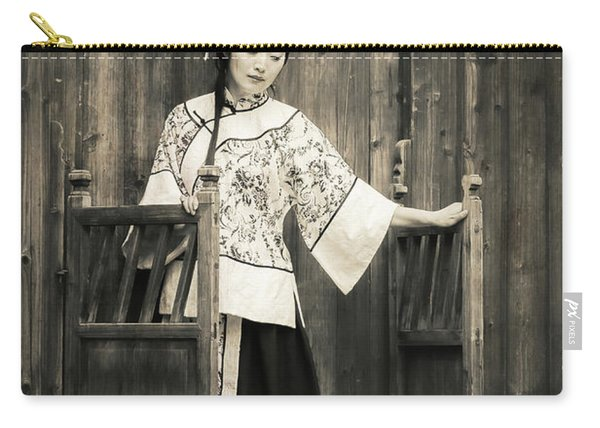 A Model In A Period Costume. Carry-all Pouch