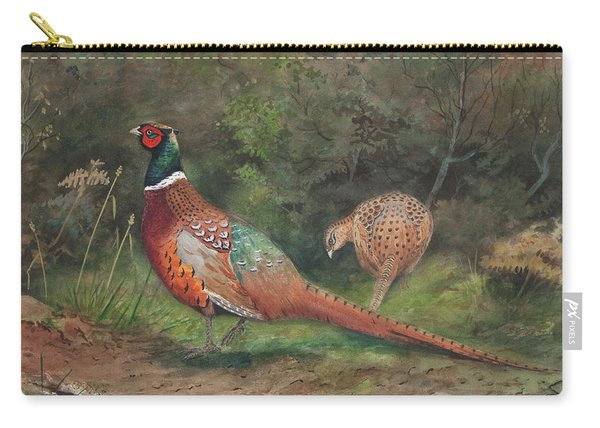 A Pair Of Pheasants Carry-all Pouch