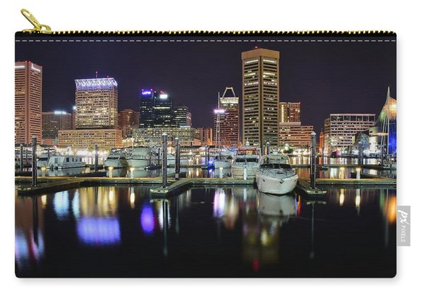 A Panoramic Baltimore Night Carry-all Pouch