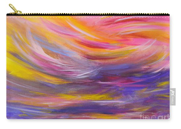 A Peaceful Heart - Abstract Painting Carry-all Pouch