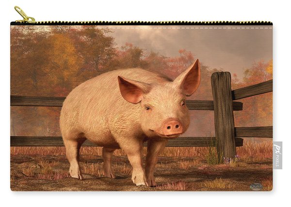 A Pig In Autumn Carry-all Pouch