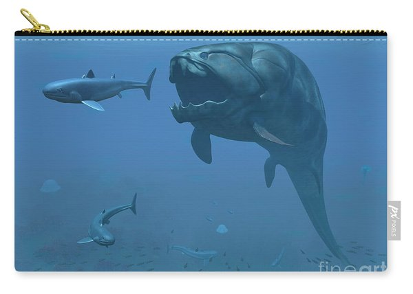 A Prehistoric Dunkleosteus Fish Carry-all Pouch