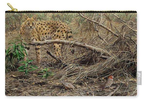 Carry-all Pouch featuring the painting A Quiet Approach by Alan M Hunt