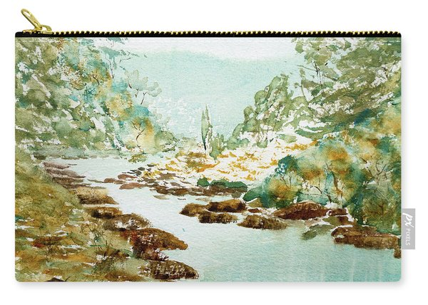 A Quiet Stream In Tasmania Carry-all Pouch