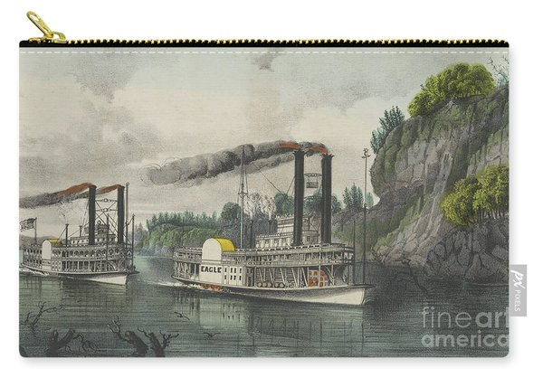 A Race On The Mississippi, 1870 Carry-all Pouch