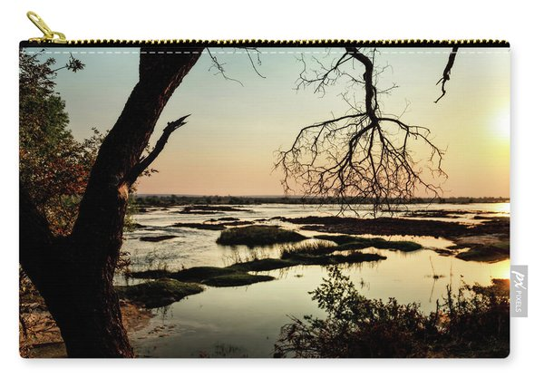 A River Sunset In Botswana Carry-all Pouch