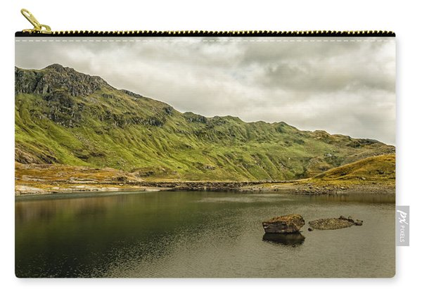 Carry-all Pouch featuring the photograph A Rock And A Hard Place by Nick Bywater