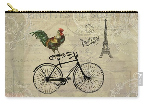 A Rooster In Paris Carry-all Pouch