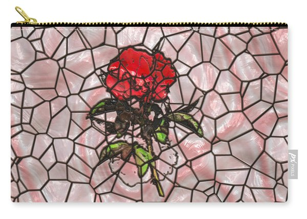 A Rose On Stained Glass Carry-all Pouch
