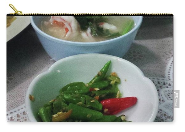 Carry-all Pouch featuring the photograph A Side Of Tom Yum Goon With Your by Mr Photojimsf
