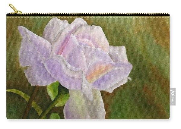 Carry-all Pouch featuring the painting A Single Rose by Angeles M Pomata