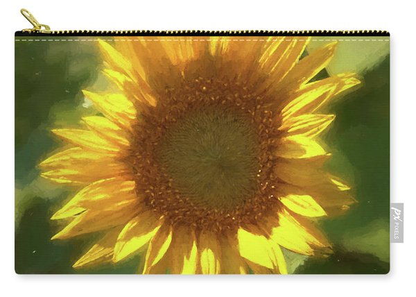 A Single Sunflower Showing It's Beautiful Yellow Color Carry-all Pouch