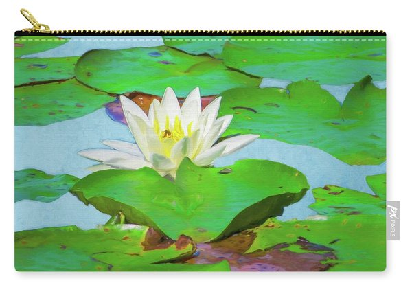 A Single Water Lily Blossom Carry-all Pouch