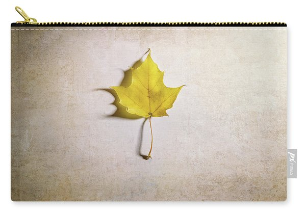A Single Yellow Maple Leaf Carry-all Pouch