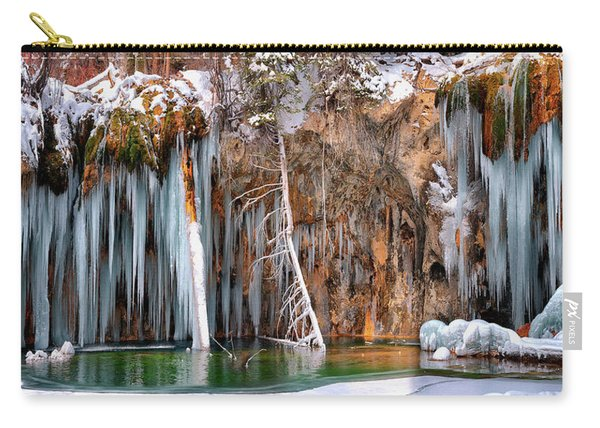 A Spring That Knows No Summer. - Hanging Lake Print Carry-all Pouch