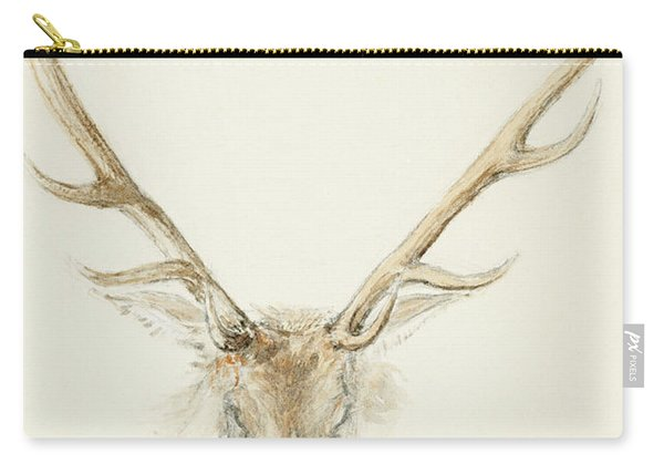 A Stag Shot By John Brown Carry-all Pouch