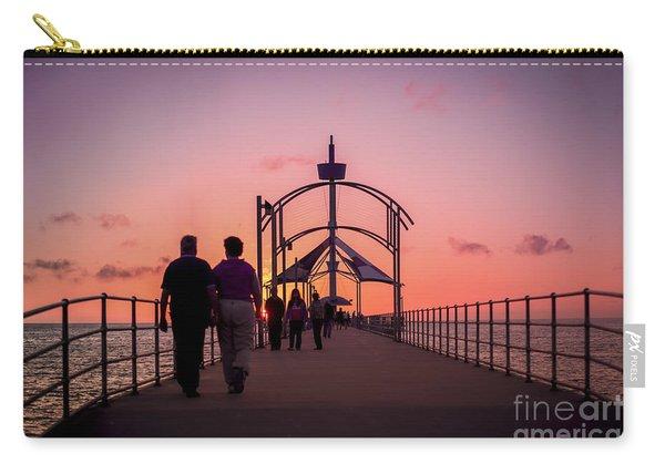 A Stroll Along Sunset Pier Carry-all Pouch