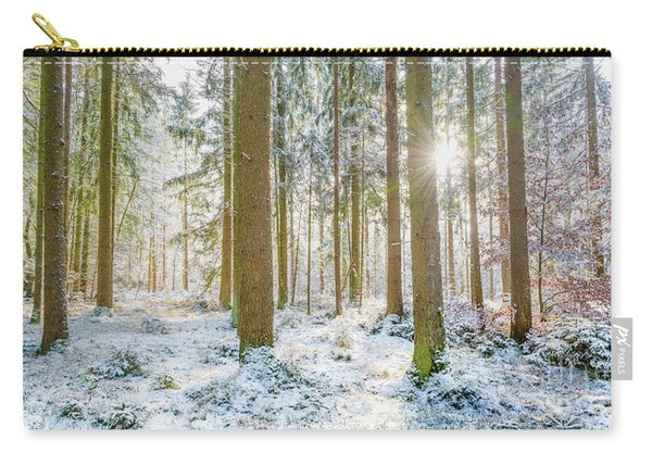 A Sunny Day In The Winter Forest Carry-all Pouch