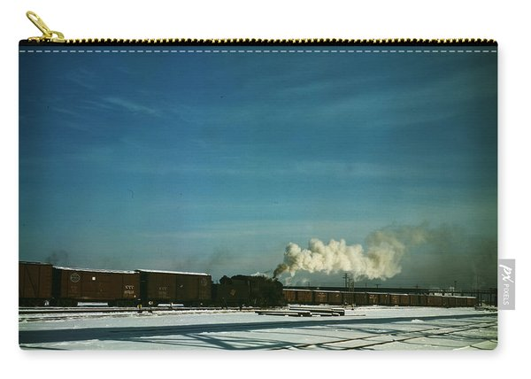 A Train Pulling Out Of The Freight House Carry-all Pouch