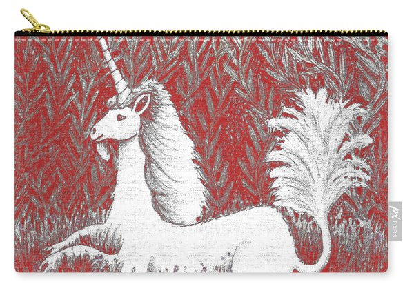 A Unicorn In Moonlight Tapestry Carry-all Pouch