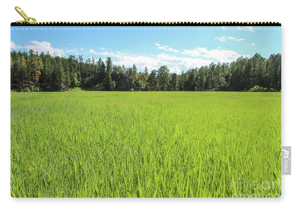 Carry-all Pouch featuring the photograph A Very Green Meadow by Bill Gabbert