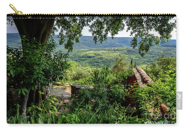 A View From Groznjan Of The Istrian Hill Town Countryside, Istria, Croatia Carry-all Pouch
