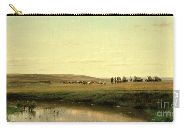 A Wagon Train On The Plains Carry-all Pouch