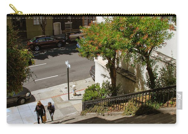 A Walk Up Joice St Steps Carry-all Pouch