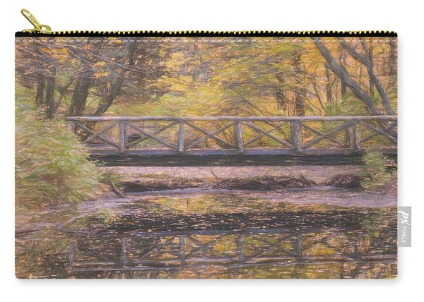 A Walking Bridge Reflection On Peaceful Flowing Water. Carry-all Pouch