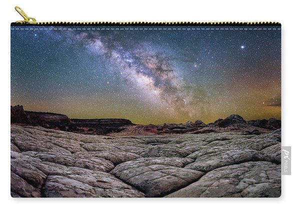 A White Pocket Nightscape Carry-all Pouch
