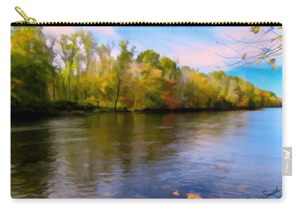 A Wide Scenic View Of Shetucket River. Carry-all Pouch