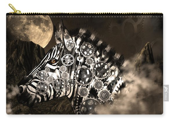 A Wild Steampunk Zebra Carry-all Pouch