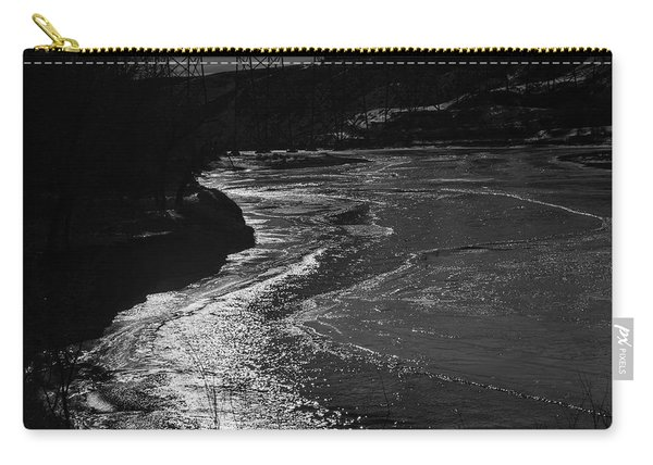 A Winter River Carry-all Pouch