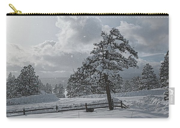 Carry-all Pouch featuring the photograph A Winter Storm In Pagosa by Jason Coward