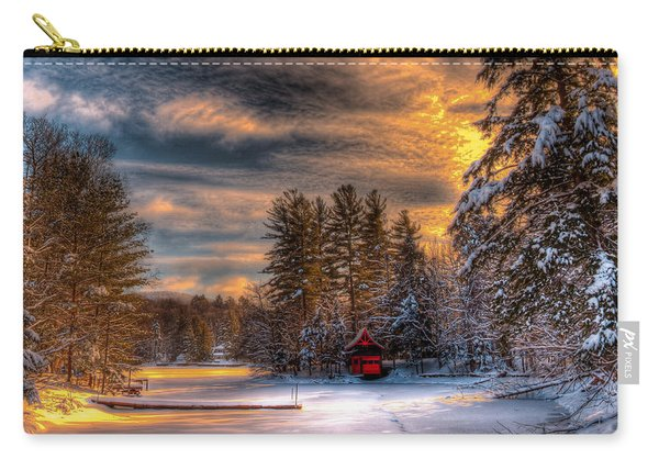 A Winter Sunset Carry-all Pouch