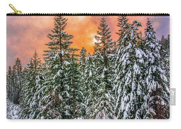 A Winters Sky Set Ablaze Carry-all Pouch