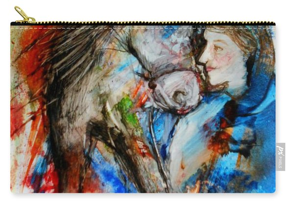 A Woman And Her Horse Carry-all Pouch