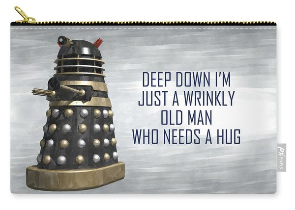 A Wrinkly Old Man Who Just Needs A Hug Carry-all Pouch
