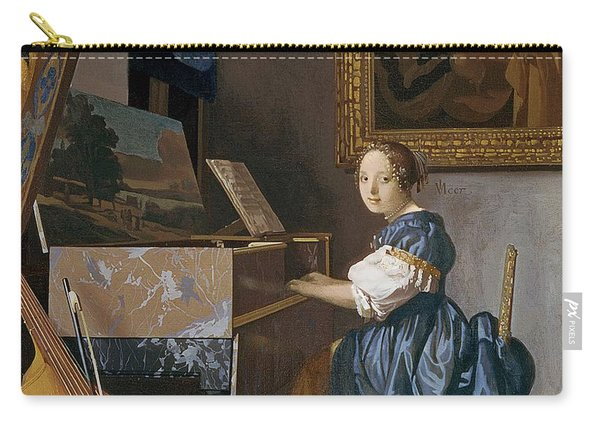 A Young Lady Seated At A Virginal Carry-all Pouch