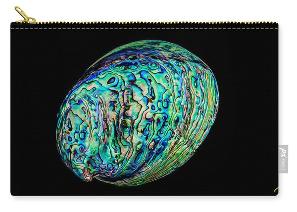 Abalone On Black Carry-all Pouch