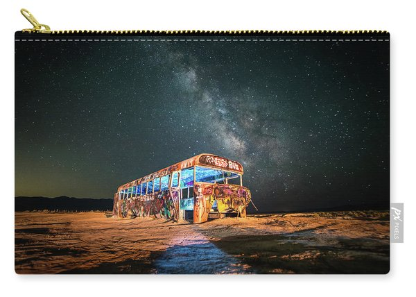 Abandoned Bus Under The Milky Way Carry-all Pouch