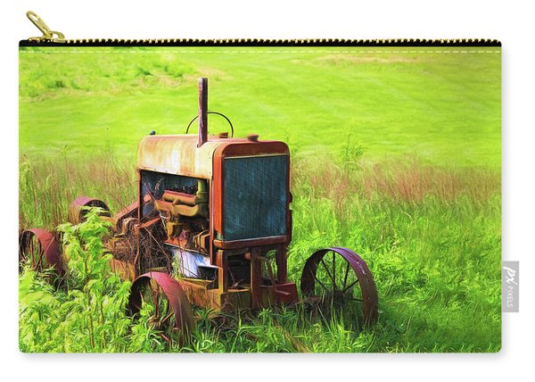 Abandoned Farm Tractor Carry-all Pouch