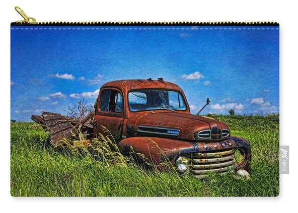 Abandoned Ford Truck In The Prairie Carry-all Pouch