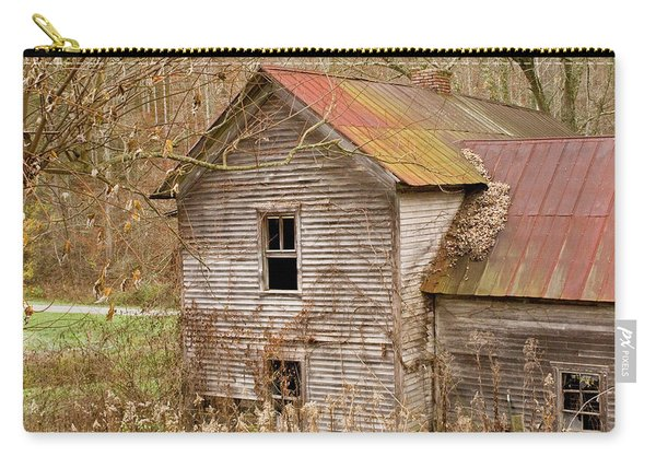 Abandoned House With Colorful Roof Carry-all Pouch