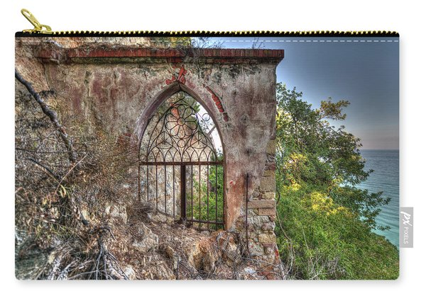 Abandoned Places Iron Gate Over The Sea - Cancellata Sul Mare Carry-all Pouch