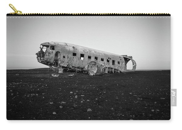 Abandoned Plane On Beach Carry-all Pouch