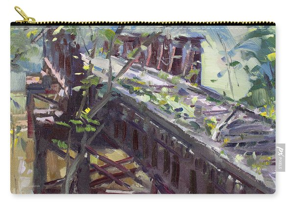Abandoned Railroad Bridge In Tonawanda Carry-all Pouch