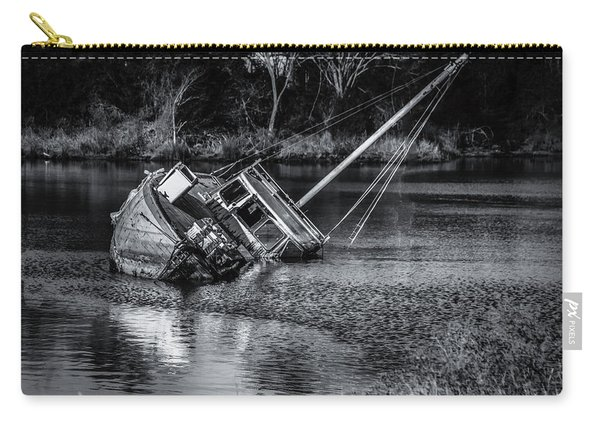 Abandoned Ship In Monochrome Carry-all Pouch