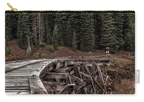 Carry-all Pouch featuring the photograph Abandoned Trestle by Susan Warren